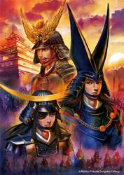 Three Warlords of Tohoku region by nabenosuke
