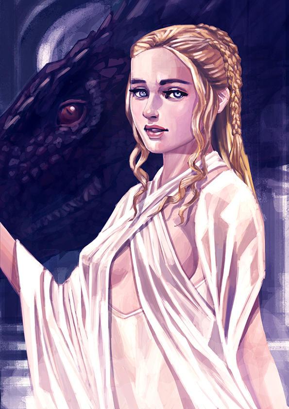 Daenerys Targaryen Emilia Clarke by nabenosuke