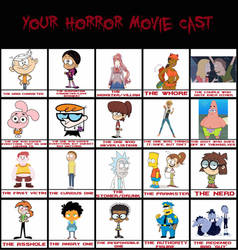 Horror Movie Cast by ConfidentCartoons