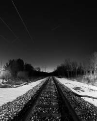 Rail Road at Night by rockdocz