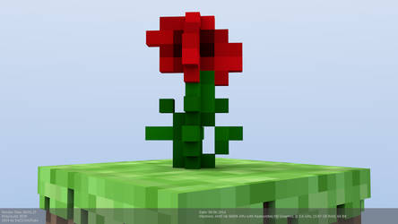 Minecraft Red Rose Model by CraftDAnimation