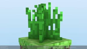 Minecraft Tall Grass Model by CraftDAnimation