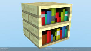 Minecraft Bookshelf Model by CraftDAnimation