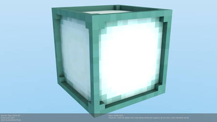 Minecraft Sea Lantern Model [Snapshot 14w25a] by CraftDAnimation