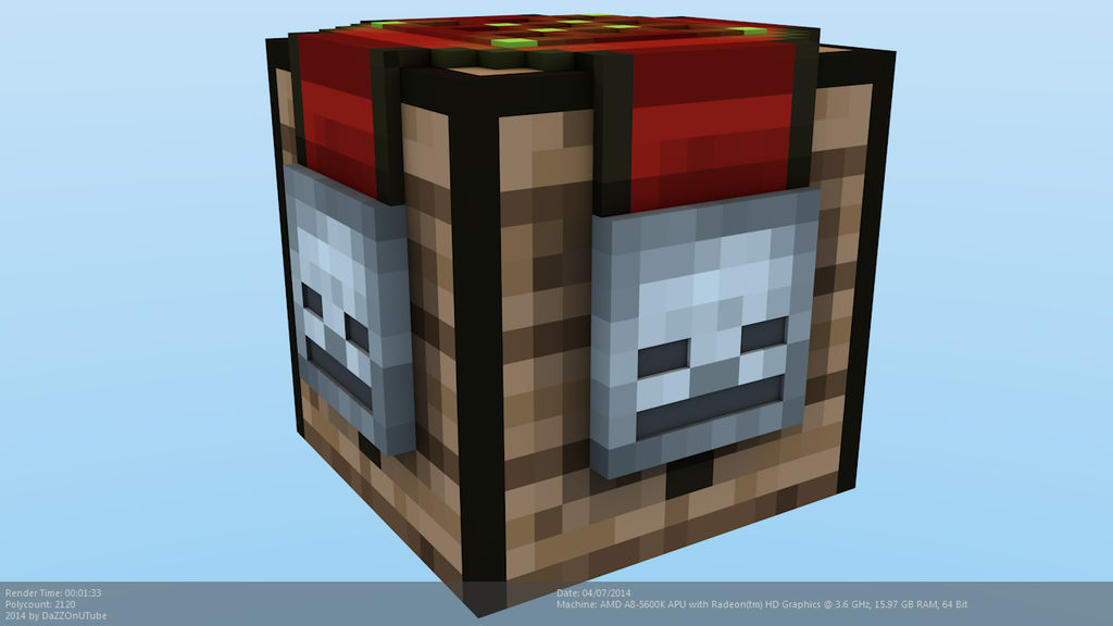 Minecraft Uncrafting Bench Model by CraftDAnimation