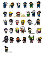 Naruto-PixelChibies by hierophant