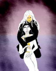 Raistlin and Crysania by Clio-Selene