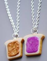 Peanut Butter Jelly Necklaces by ClayRunway