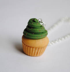 Army Insprired Cupcake Necklace by ClayRunway