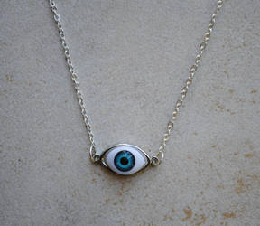 Eye ball necklace by ClayRunway
