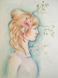 Rose Girl by KatarzynaLawniczak