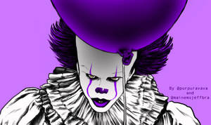 PennyWise-The-Purple-Clown by Misandrella