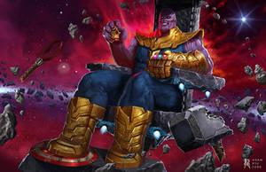 Thanos the Mad Titan by RedneckSamura1