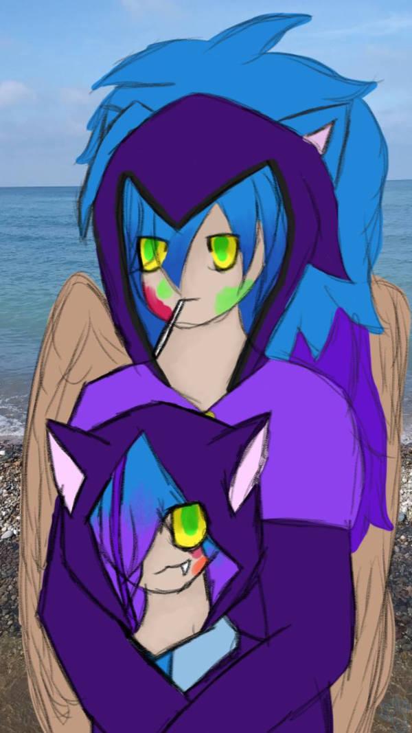 Gacha-verse Spirit and Teen spirit by Awesomspiritcat21