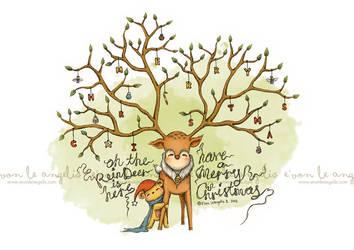 Oh the Reindeer is Here by evonleangelis