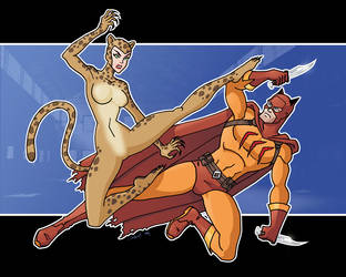 cat fight by davidd13