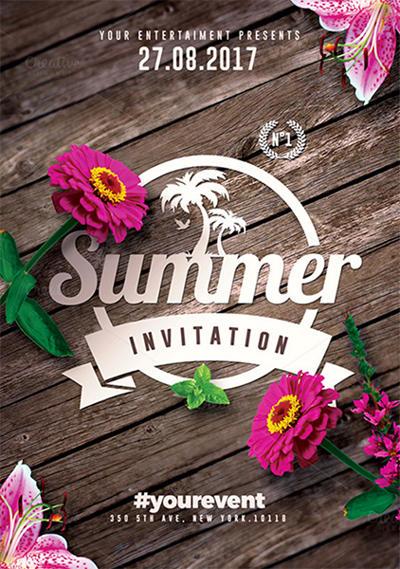 Summer Invitations | Flyer Templates by RomeCreation