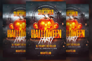 Halloween Party Flyer by RomeCreation