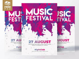 Music Festival  Flyers by RomeCreation