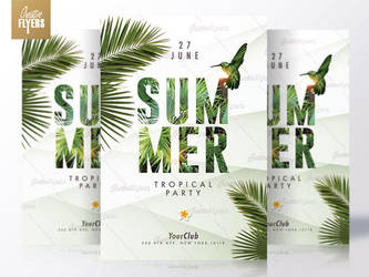 Summer Flyers - Tropical Party by RomeCreation
