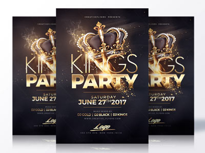 Night club flyer Template by RomeCreation