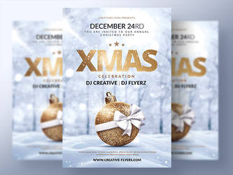 Xmas Party Flyer template by RomeCreation