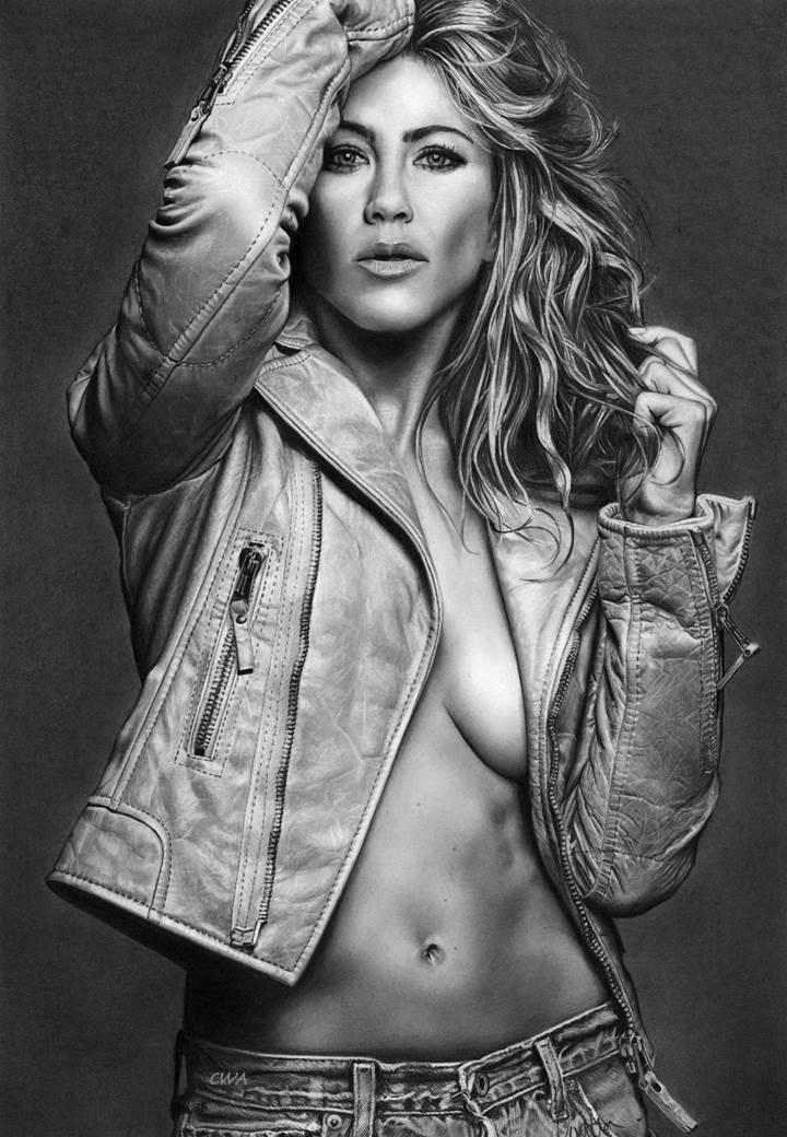 Jennifer Aniston by ChrisWoottonArt