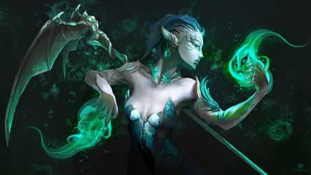 Guild Wars 2 - Sylvari Necromancer by Sefokusu