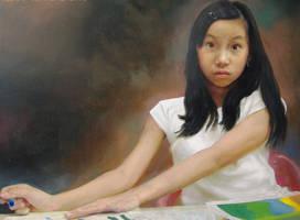 Saturday Morning Oil on Canvas by michaelandrewlaw
