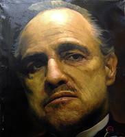 B R A N D O - Oil Painting by michaelandrewlaw