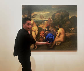Michael Andrew Law and Jeff Koons Gazing Ball by michaelandrewlaw