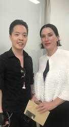 Law Cheuk Yui meet Artist Sarah Morris by michaelandrewlaw