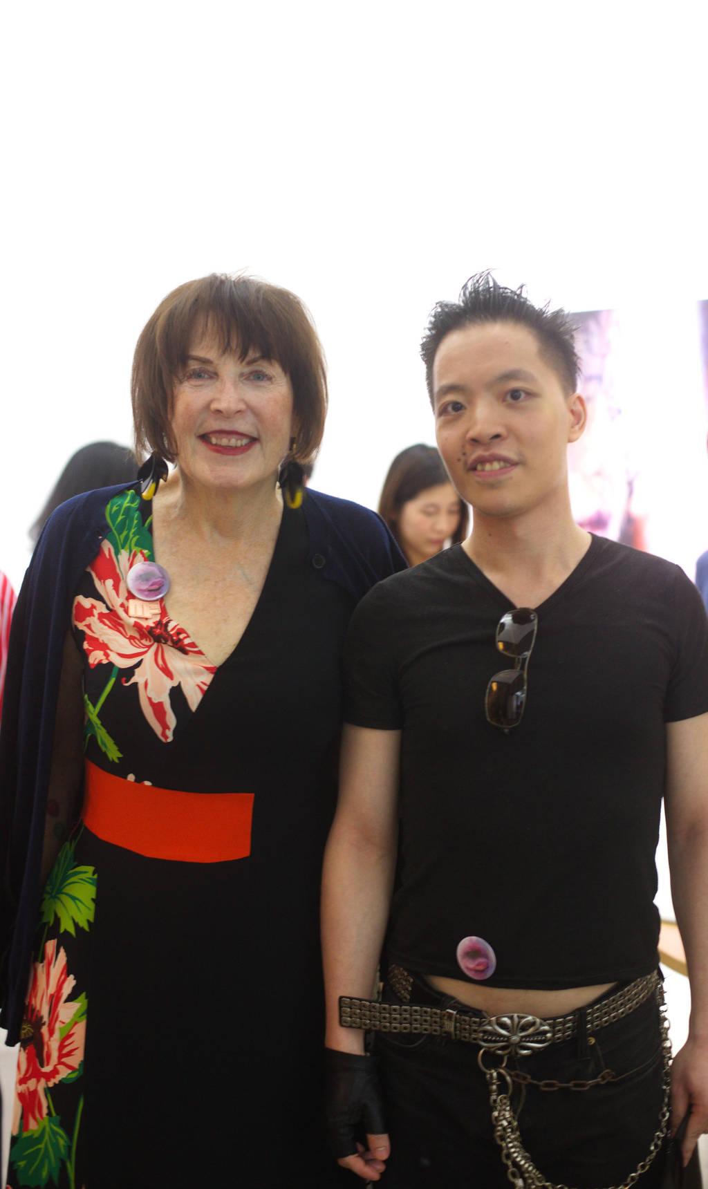 Michael Andrew Law Cheuk Yui meet Marilyn Minter 1 by michaelandrewlaw
