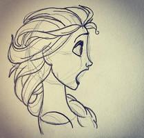 Elsa Sketch by MelodicSkies