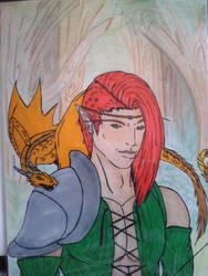 Le chasseur au dragonnet by LessienAD