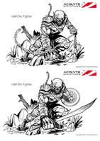 Half-Orc Concept by xavor85