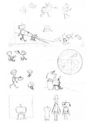 Robot Sketch Compilation by kiki-isbeing-purples