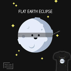 Flat earth eclipse by Pacari-Design