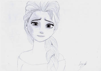 Elsa- Nervous smile by leeman1337