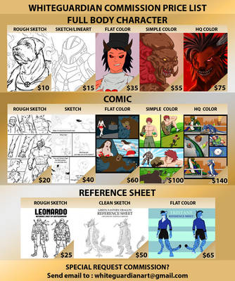 Commission Price UPDATED by whiteguardian