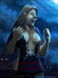 Paje into Werewolf Mid Process by whiteguardian