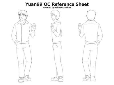 Yuan99 OC Ref Sheet by whiteguardian