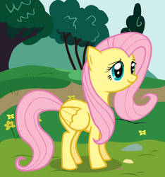 Fluttershy - Standing Sweetly by TheXxxX