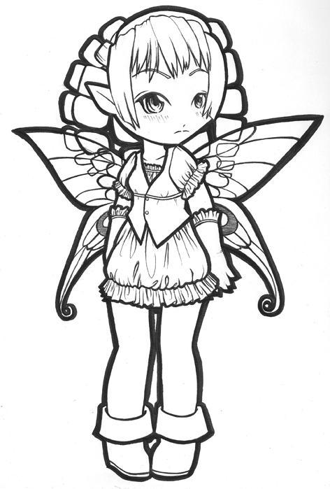 Fairy Line Art By Kasaiinuyoukai On Deviantart