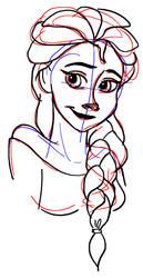Elsa Sketch by AbsoL-G