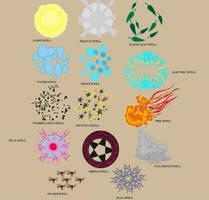Basic spells set by Dhacxaahsvost