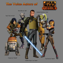 The Voice Actors of Star Wars Rebels by mMathab