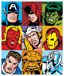 Marvel Heroes 3x3 by RonMaras