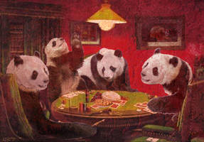 Panda's Playing Poker by 007Saix