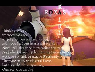 Thinking of you Roxiri by PrinceRoxasXIII